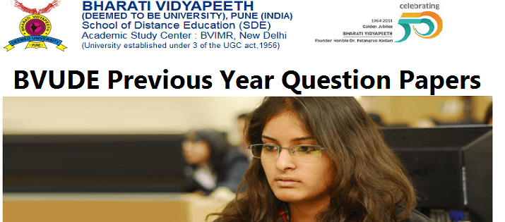 Bharati Vidyapeeth University BVUSDE Previous Year Question Papers