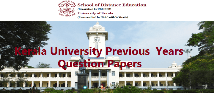 Kerala University Previous Year Question Papers