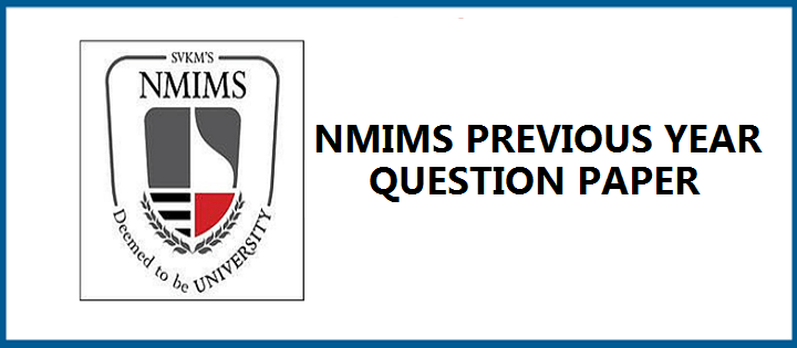 NMIMS Previous Year Question Papers