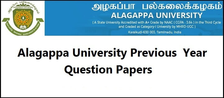 alagappa university previous year question papers