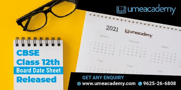 CBSE 12th exam date sheet