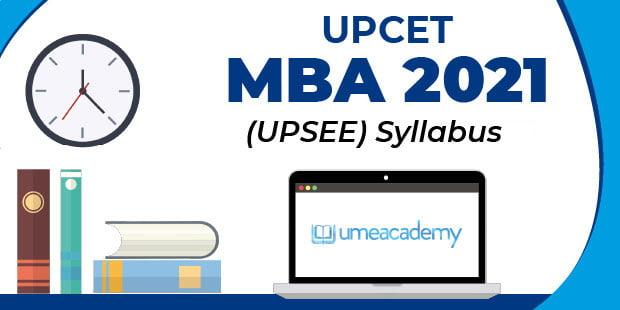 UPCET MBA 2021 Syllabus