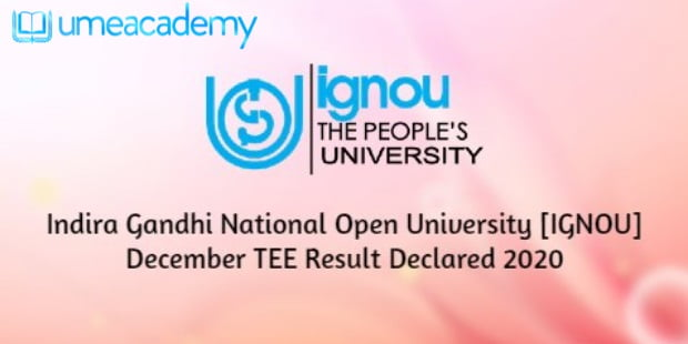 IGNOU Result 2020 and grade card