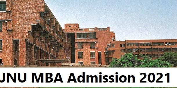 JNU MBA Admission 2021