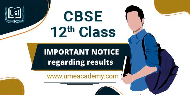 CBSE 12th Class notice