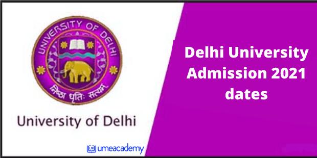DU Admission 2021 dates