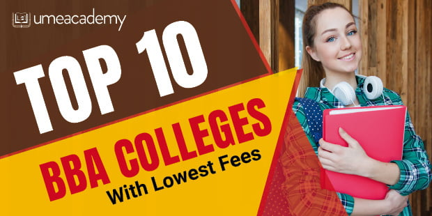 Top 10 BBA Colleges with lowest Fees