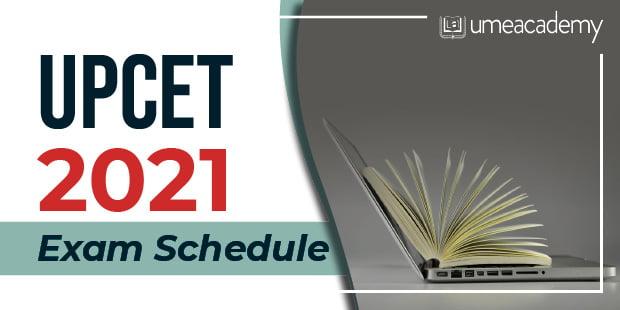 UPCET 2021 Exam Schedule