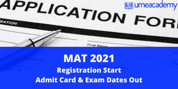 MAT 2021 Registration Start