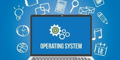 os operating system software computer laptop screen gear icon vector